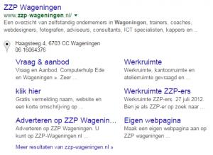 google sitelinks aanpassen